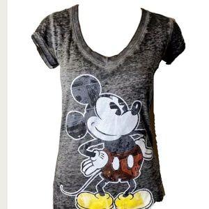 NWT Disney Mickey Mouse Grey black Tshirt S